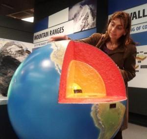 Макет на земята в музея на природата в Лондон