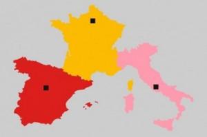 Италия, Франция, Испания