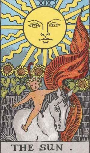Таро карта, Слънце от Големият Аркан