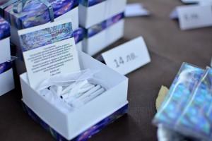 Кутия с късмети с цитати от разказите. Снимка Деница Проданова.