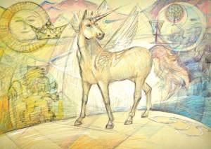 Еднорогът Лулу е кон-пегас и крилете му са израз на отвореното му сърце, огромната му любов и състрадание