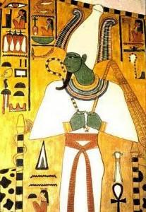 Озирис, Бог на подземния свят. Изображение от храма на Нефертити.
